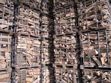 Brennholz, Kaminholz, Gitterboxen, Buche, Birke, Fichte, Nadelholz, Laubholz, Saale-Brennholz GmbH, Saalburg-Ebersdorf