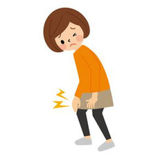 産後骨盤矯正では膝痛にも施術しています。