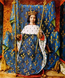 """Charles VI. Source Par <a href=""""https://fr.wikipedia.org/wiki/Jean_Perr%C3%A9al"""" class=""""extiw"""" title=""""fr:Jean Perréal"""">Jean Perréal</a> — <span class=""""description fr"""" xml:lang=""""fr"""" lang=""""fr"""">Cette image provient de la <a rel=""""nofollow"""" class=""""external tex"""