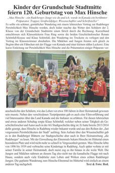 Max Hinsche in der Radeberger Grundschule Stadtmitte