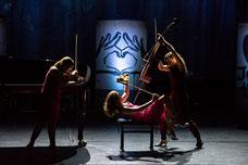 Salut salon quatuor feminin humour musical classique comique contact
