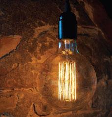 E27 Deko Mega Globe Edison Glühlampe 240V 125mm