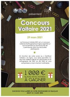 (c) Affiche Concours Voltaire 2021