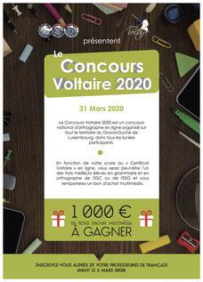 (c) Affiche Concours Voltaire 2020