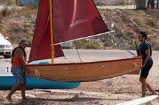 faltbares Segelboot