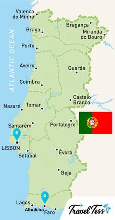 Kaart van Portugal