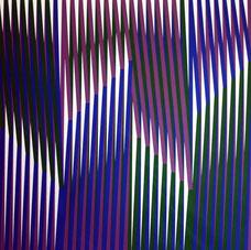Carlos Cruz-Diez, Couleur additive, 1970, sérigraphie, collection artothèque du musée des beaux-arts de Brest.