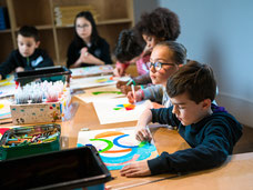 Visite-atelier pour les enfants. © Mathieu Le Gall