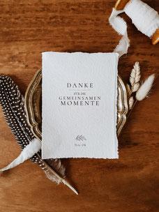 Boho Dankeskarte Hochzeitsfotograf