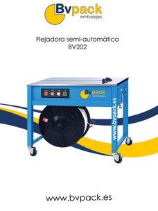 Flejadora_semiautomática_para_cajas. Flejadora_de_mesa.