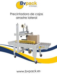 Precintadora_automática_de_cajas. Precintadora_arrastre_lateral.