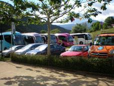 Parking del centro de Aventura de Sobrón