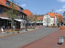 Blick in die Soltauer Fußgängerzone