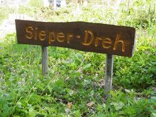 "Schild ""Sieper Dreh"""