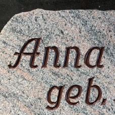 DUROL Schriftfarbe Stein Naturstein Granit rauh