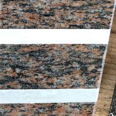 DUROL Schriftfarbe Stein Naturstein Granit braun