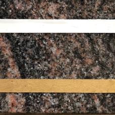 DUROL Schriftfarbe Stein Naturstein Granit Gold Weiß