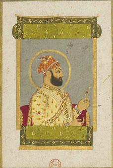 Portrait-of-Farrukhsiyar-miniature-painting