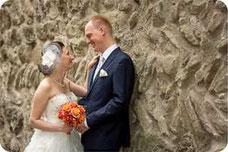 Hochzeitsfoto beim Schloss Greifensee