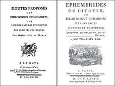 Gabriel Bonnot de MABLY (1709-1785) : DOUTES PROPOSÉS  aux philosophes économistes sur L'ordre naturel et essentiel des sociétés politiques. Lettres IV et V sur la Chine.