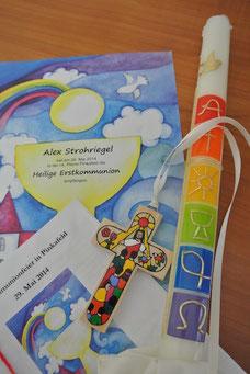Kerzen Und Einladungen Für Kirchenfeste Sandras Dekoecke