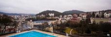 Вид на город от бассейна Термаль.