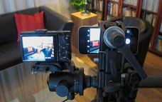 Testaufbau Innenraum, Smartphone IPHONE SE versus Kompakt-Kamera SONY RX100 M2, Foto Klaus Schoerner