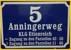 Ein Verein-zwei Adressen, KGV Ettenreich, Anningerweg 5, 1100 Wien, alternativ Dr. Eberle-Gasse 17