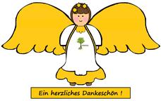 Engel mit Dankeschön