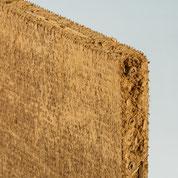Mit Lehmbauplatten beplankte Decke