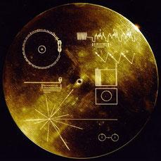 Goldene Platte der Voyager-2-Sonde