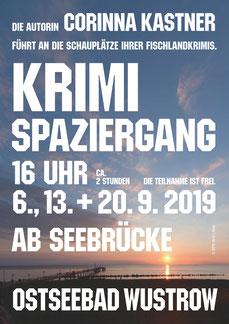 Wustrow Fischland Darß Zingst Mecklenburg Mecklenburg-Vorpommern Krimi Krimi-Spaziergang Barnstorf Bodden Nebel Corinna Kastner