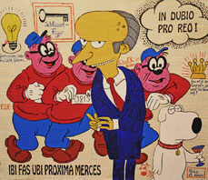 Verbrechen, Bankräuber, Anwalt, Gesetz, Im Zweifel für den Angeklagten, In Dubio pro Reo, Divo Santino, Gesetztesblätter, BGB, Schlüsselfigur, Krone aufsetzten, hinters Licht führen, Schalk im Nacken