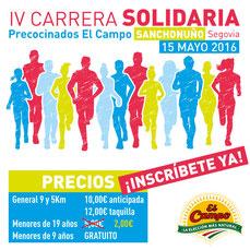 V CARRERA SOLIDARIA PRECOCINADOS EL CAMPO - Sanchonuño, 15-05-2016