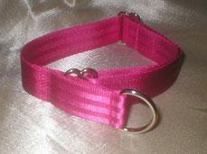 Halsband, Hund, Martingale 4 cm breit, Gurtband schokobraun, Reflexstreifen