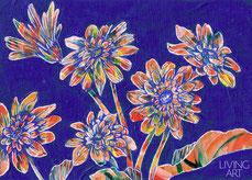 ガーベラの花の絵画。オーダーメイドのギフト