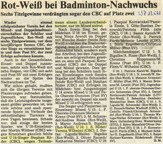 WZ vom 13.05.1991 Wuppertaler Stadtmeisterschaften Jugend Doppel