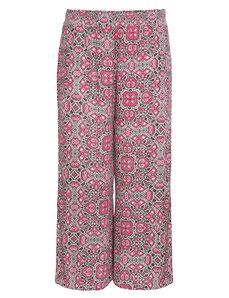 Damen Palazzo Hose rosa print weit geschnitten
