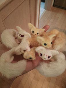 羊毛フェルト 管狐 空想彷徨道具店