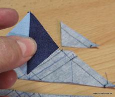 Anleitung Quadrate aus 2 Dreiecken