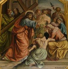 VIII Kreuzwegstation - Jesus begegnet den weinenden Frauen