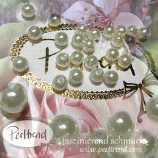 Perlen www.perltrend.com Jewel  Jewellery Jewelry Schmuck Luzern Schweiz Online Shop  DIY basteln Schmuckdesign Dekoration künstliche Perlen Imitationsperlen elfenbeinfarben Elfenbein Ivory Perlenglanz cremefarben Dekoperlen Schmuckperlen