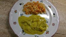 Pute mit Möhren-Reis