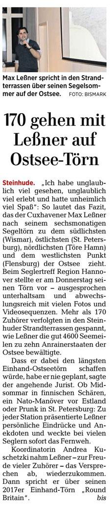 HAZ, Lokalteil Wunstorf, 2. Februar 2018