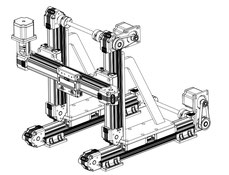 Dual Z axis gantry stage linear modules