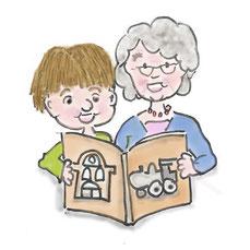 Vorlesen Oma und Enkel