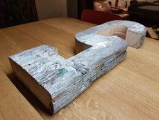 Hausnummer aus Holz
