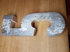 Zahl aus Holz