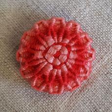 knopfoutlet.de - Posamentenknopf aus Sticktwist, rosa, rot
