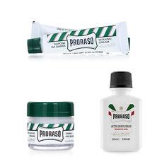 Proraso Preshave Cream, Shaving Cream und After Shave Balm Mini